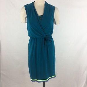 Tahari dress teal size small